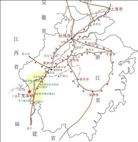 衢州常山旅游地图